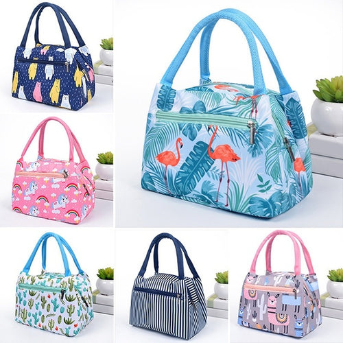 Portable Food Insulation Lunch Handbag Camp Picnic Storage Cooler Bags