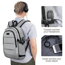 Load image into Gallery viewer, New Fashion Laptop Anti Theft Waterproof Travel Backpack with USB Charging Port Amp Headphone Interface
