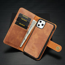 Load image into Gallery viewer, iPhone Removable Case Magnetic Flip Leather Card Wallet Cover