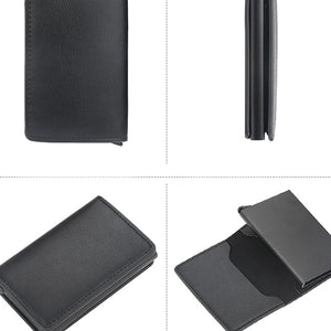 Rfid Card Holder Short Small Slim Leather Smart Wallets Purse