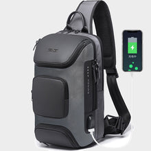 Load image into Gallery viewer, Men Outdoor Travel USB Charging Port Sling Bag Chest Bag