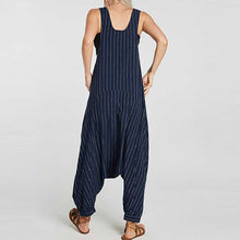 Load image into Gallery viewer, Women Casual Loose Striped Overall Jumpsuit