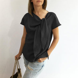Plus Size Vintage O-Neck Loose Shirt