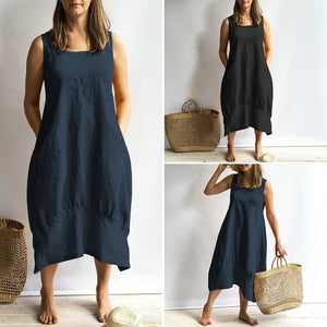 Summer Sleeveless Plus Size Casual Loose Dresses
