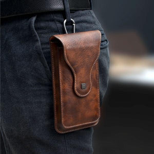Universal Vertical Phone Pouch Belt Clip Holster Waist Bag