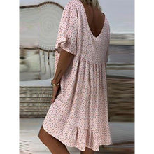 Load image into Gallery viewer, Women Summer Mini Polka Dots Dresses V Neck Dresses