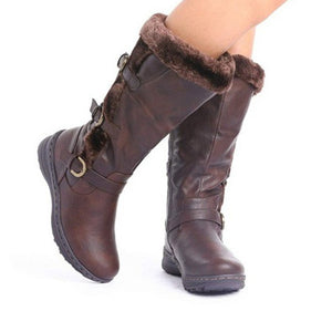 Casual Comfortable Plus Size Flat Boots