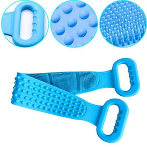 Long Bath Towel Exfoliating Scrub Silicone Double-Sided Back Scrubber