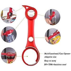 Multifunctional Kitchen Tool 6 in 1 Magic Can Opener