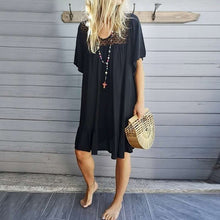 Load image into Gallery viewer, V Neck Casual Loose Half Sleeve Dresses