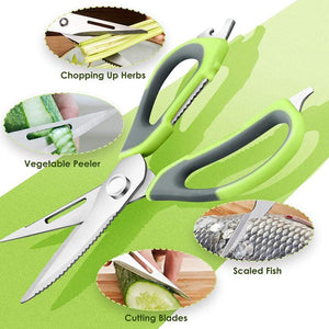 Multi-Purpose Stainless Steel Detachable Scissors Fish Scaler Nut Cracker Peeler