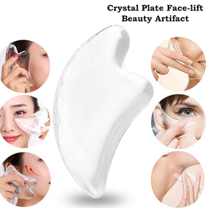 Crystal Face Massage Board Transparent Natural Ingredients