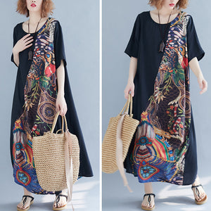 Summer Vintage Women Loose Beach Dresses