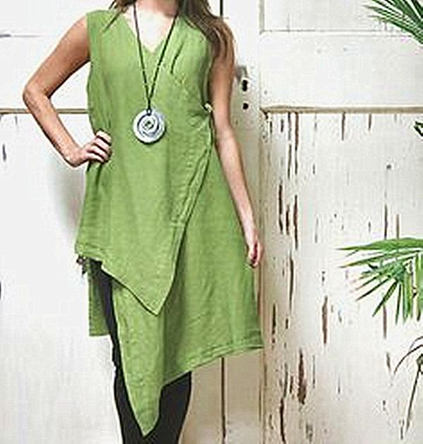 Casual Sleeveless Round Neck Irregular Dress