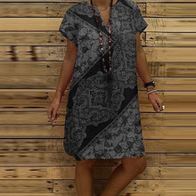 Load image into Gallery viewer, Elegant V Neck Loose Dress