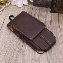 Load image into Gallery viewer, Men Waist Belt Bum Bag Phone Waist Flip Pockets Leather Cards Holder Case