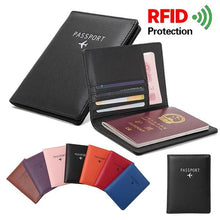 Load image into Gallery viewer, Anti-degaussing RFID Multifunctional Passport Bag Document Holder