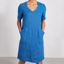 Load image into Gallery viewer, Solid Sweetheart Pockets Short Sleeve Dresses