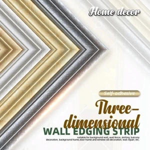 Self-Adhesive 3D Wall Edging Strip (8 colors)