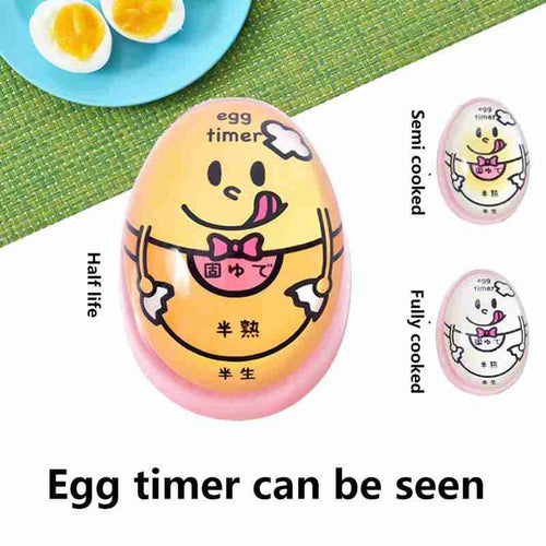 Creative Heat-hard Medium Soft Perfect Kitchen Color Changing Egg Timer