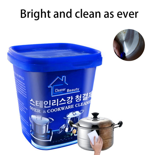 Kitchen Washing Pot Bottom Black Scale Decontamination Household Stainless steel Cleaning Paste