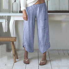 Load image into Gallery viewer, Plus Size Solid Color Pocket Loose Pants