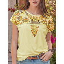 Load image into Gallery viewer, Daily Short Sleeve Printed Round Neck Blouse