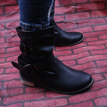 Load image into Gallery viewer, British Casual Wrapped Buckle Short Martin Boots