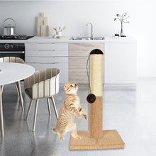 Load image into Gallery viewer, Sisal Rope Climbing Tube Cat Frame Scratching Board with A Toy Ball and Large Base