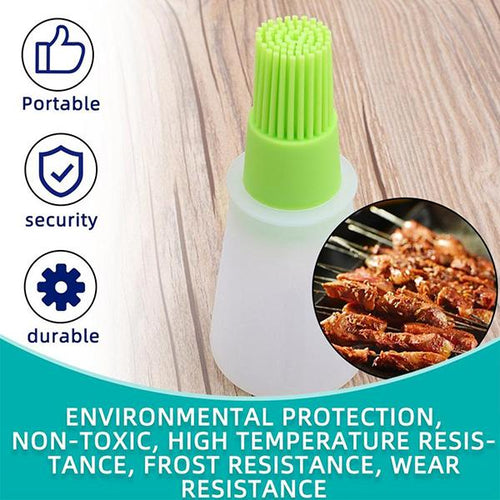 High Temperature Resistant Brush Food Grade Silicone Oil Bottle