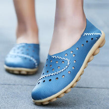 Load image into Gallery viewer, Breathable Non-Slip Soft Slip-on Hollow-out Loafers Flat Shoes