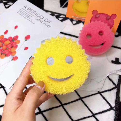 Magic Wipe of Smiley Face Kitchen Brush Household Cleaning Tools
