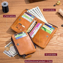 Load image into Gallery viewer, Men's Large Capacity Multi-card Album Bit Split Wallet