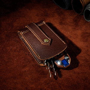 Leather Men's Car Key Wallets Waist Bag