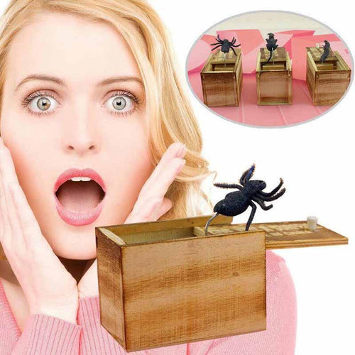 Tricky Toy Spoof Bug Worm Small Wooden Box