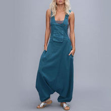 Load image into Gallery viewer, Plus Size Loose Solid Color Jumpsuits