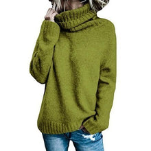 Load image into Gallery viewer, Women Casual High Neck Solid Sweaters