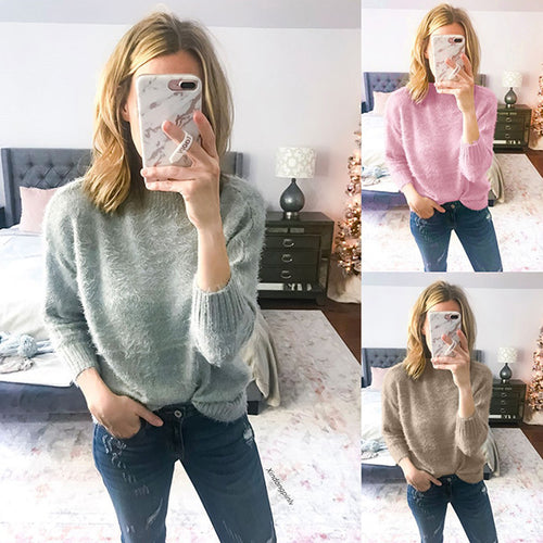 Round Neck Comfortable Stretch Sweater