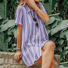 Load image into Gallery viewer, Striped Short-Sleeved Dress