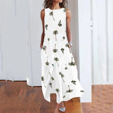 Load image into Gallery viewer, Round Neck Print Sleeveless Maxi Dress