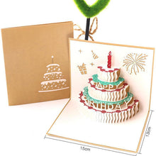 Load image into Gallery viewer, 3D Mothers Day Pop Up Flowers Anniversary Birthday Gifts Card
