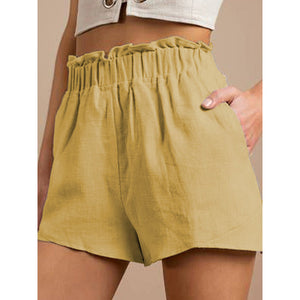 Women Summer Casual Solid Color Shorts