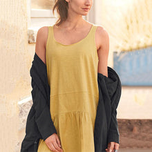 Load image into Gallery viewer, Casual Solid Color Sleeveless A-line Irregular Hem Dresses