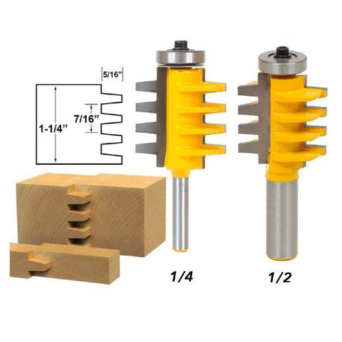 Rail Reversible Finger Joint Glue Router Bit