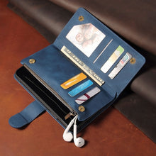 Load image into Gallery viewer, Premium Zipper Wallet Card Slots Magnetic Case For iPhone