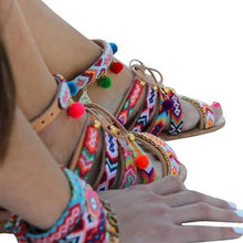 Load image into Gallery viewer, Bohemian Multicolor Buckle Sandals Woman Shoes