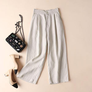 Plus Size Loose Solid Color Pants