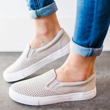 Load image into Gallery viewer, Solid Color Hollow Casual Flat Shoes