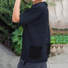 Load image into Gallery viewer, Casual Back Pocket Solid Color Blouse
