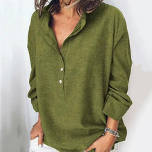 Load image into Gallery viewer, Button Fly Solid Color Blouse